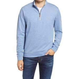 Johnnie-O Sully 1/4 Zip Pullover Sweater Blue 2XL